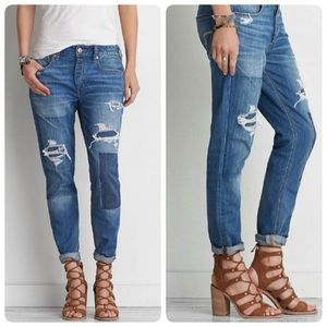 American Eagle Tomgirl Shadow Patch Jeans